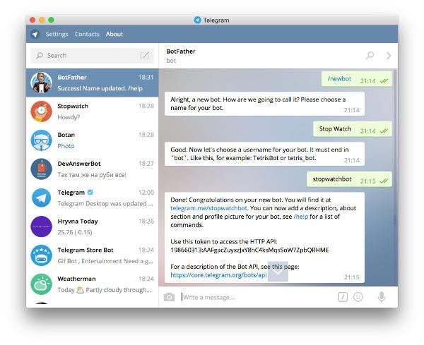 ایجاد ربات تلگرام