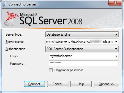اتصال به سرور در sql server