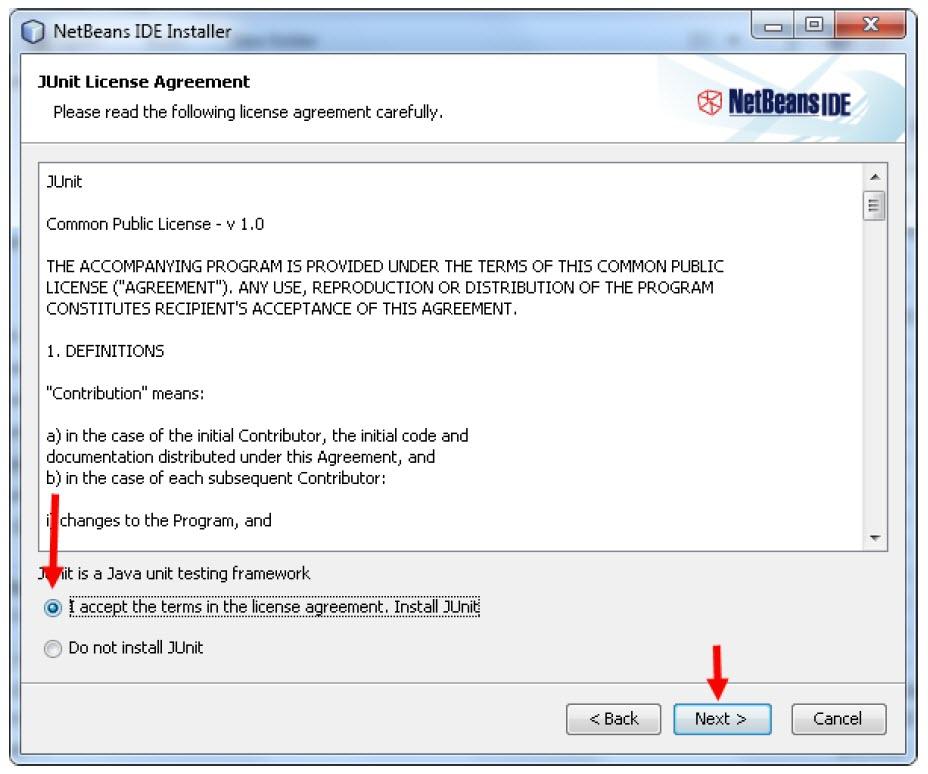ادامه نصب NetBeans در ویندوز 10