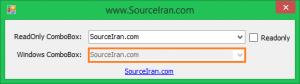 کنترل سفارشی ReadOnlyComboBox در زبان برنامه نویسی C#