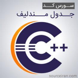 سورس کد جدول مندلیف به زبان سی پلاس پلاس