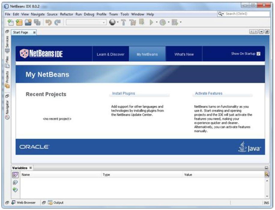 محیط نرم افزار NetBeans