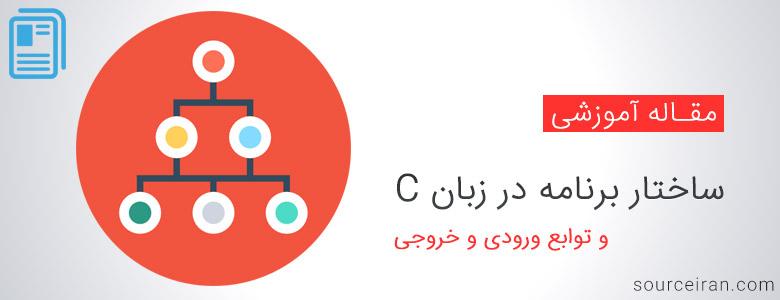 Program structure in C language and input and output functions ساختار برنامه جذاب و جالب و خوب در زبان C و همچنین توابع ورودی و همچنین خروجی