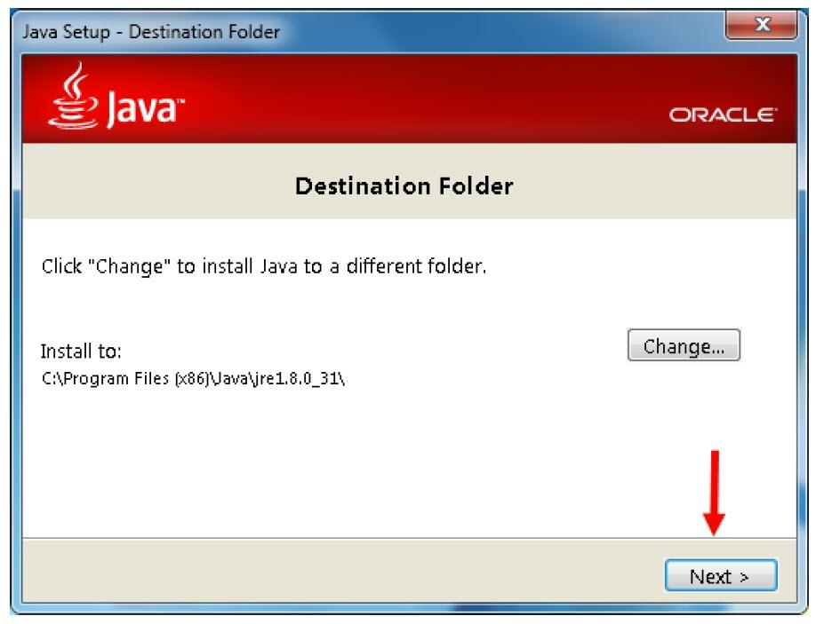 انتخاب محل نصب JDK در ویندوز 10