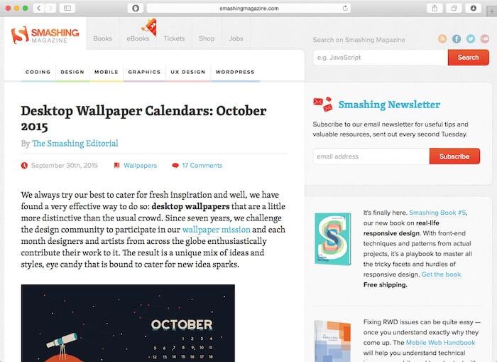 سایت SmashingMagazine برای آموزش طراحی وب