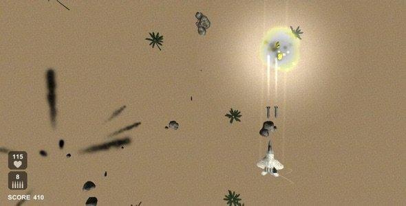 سورس اندروید بازی جت جنگنده 3 بعدی Raptor Combat