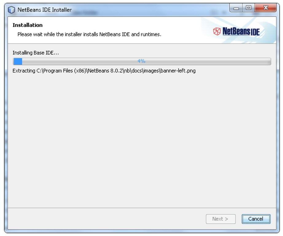 شروع نصب NetBeans در ویندوز