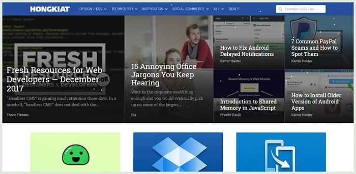 آموزش طراحی وب با سایت HongKiat