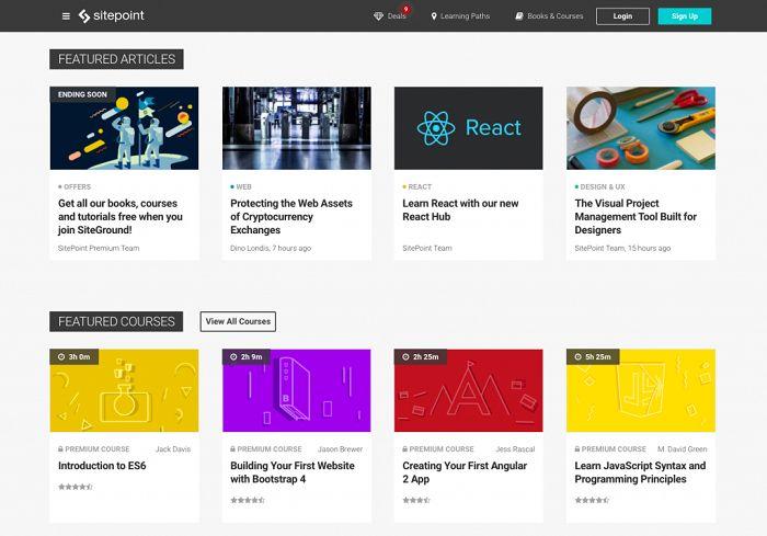 آموزش طراحی وب با سایت Sitepoint