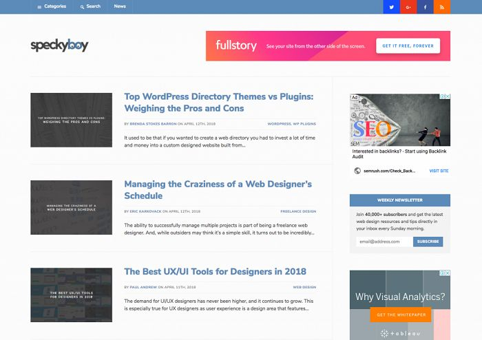 آموزش طراحی وب با سایت SpeckyBoy